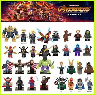 LEGO Avengers Minifigures Building Blocks Super Hero Spider Man Thanos Loki Thor