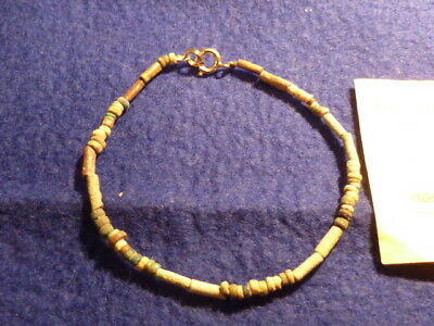 Fortnum & Mason Ancient Egyptian Beads, Circa 1300 Bc, Restrung , With Coa.