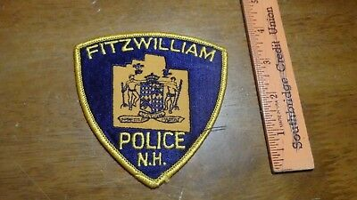 Fitzwilliams  New Hampshire  Police  Department Obsolete   Patch Bx 2 #10