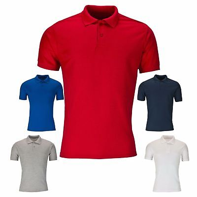 New Men's Polo Shirt Crew Neck Plain T Shirt Short Sleeve Summer Top Size S-XXL