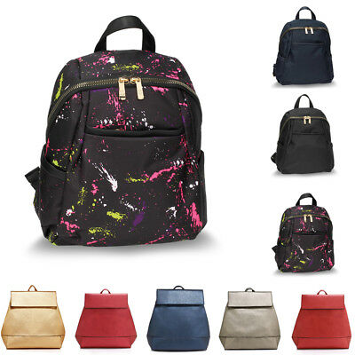 School Backpack Rucksack Bag For Boy Girl Teenage Faux Leather New Large College
