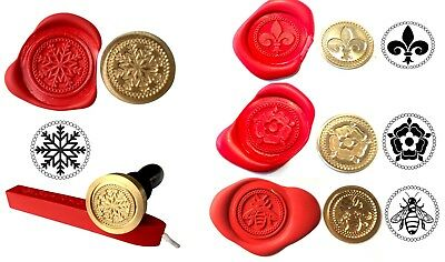 Wax Stamp Seal COIN ONLY 300+ Design Choices Coins (NO Handle or Wax) XWSC
