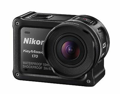 Nikon Waterproof Wearable Camera KeyMission 170 Black 4K Wifi And accessories