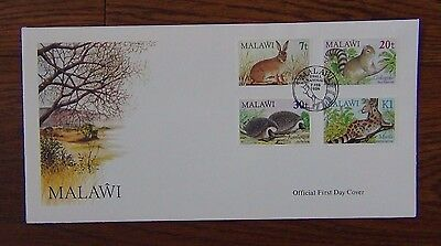 Malawi 1984 Small Mammals set on First Day Cover