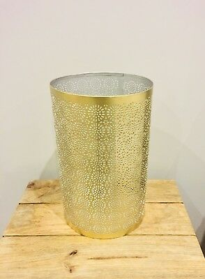 Large Gold Brass Storm Lantern Wedding Or Garden Decoration (two available)