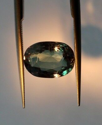 2.96 Ct GII Certified Natural Alexandrite Ceylon No Heat Top Grade Oval Cut Gem