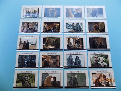 Game of Thrones Season 3 complete Relationships cards DL1 to DL20