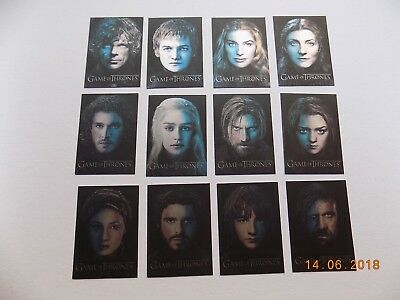 Game of Thrones Season 3 complete Gallery cards PC1 to PC12