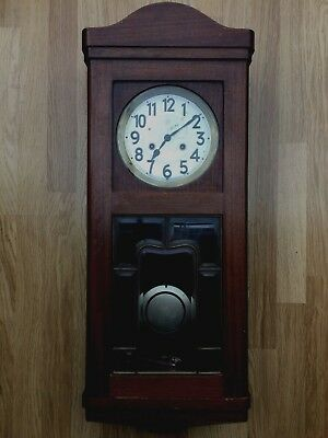Antique German Junghans chime wall clock in need of some repair