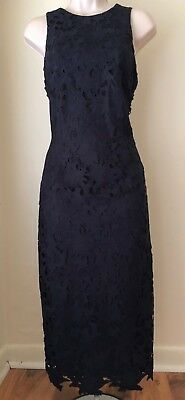 d8a29e33384 Antonio Melani Peggy Cut-Out Lace Sleeveless Midi Dress NWT Size 2