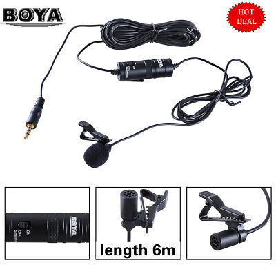 Lavalier Microphone Audio for Boya BY-M1 phone Canon Nikon Sony DSLR Camera IB B