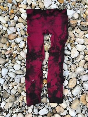 LULULEMON Zone Tight Tie Dye Red Seamless High Rise Compression Leggings size 8