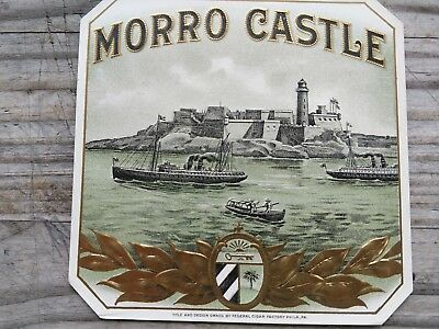 Morro Castle Cigar Box Label 1900-1910 Rare Federal Cigar Factory Philadelphia
