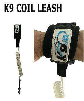 K9 - COIL LEASH - Hands Free - Tangle Free - 6 ft flexibility - Cushioned pull