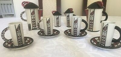 "Lorna Bailey ""Charles Rennie Mackintosh "" style coffee set"