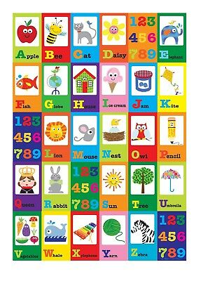 Know & Learn Your Alphabet Educational Poster T212 |A4 A3 A2 A1 A0|