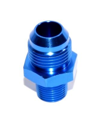 """BLUE 10AN AN-10 to 3/8"""" NPT Male Thread Straight Aluminum Fitting Adapter"""