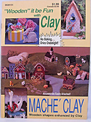 Wooden It Be Fun With Clay No Baking Mache Clay Project Booklet Holidays