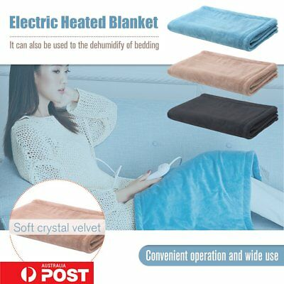 Washable Electric Heated Throw Rug Snuggle Blanket 3 Smart Heat Settings BU