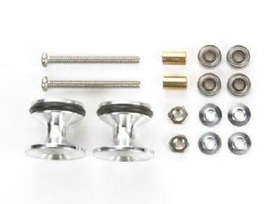TAMIYA MINI 4WD DOUBLE ALUMINUM ROLLERS w/RUBBER RINGS (13-12mm) - ITEM 15418