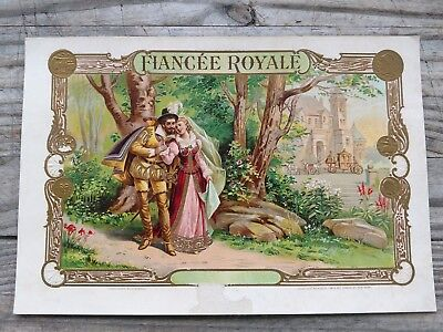 FIANCEE ROYALE INNER CIGAR BOX LABEL George Schlegel Litho. New York Rare