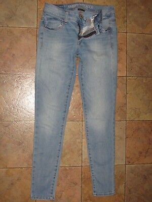 VERY GOOD!! AMERICAN EAGLE OUTFITTERS Jegging SUPER STRETCH Jeans 0 SHORT