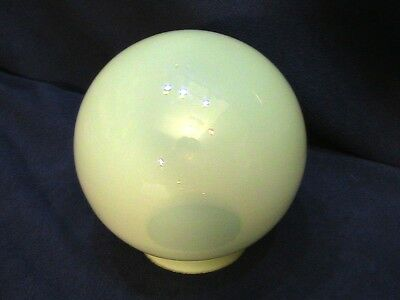 "Antique Vaseline Shade Globe 6""  3 1/4"" Fitter"