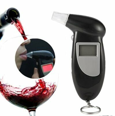 NEW Police Digital Breath Alcohol Tester LCD Breathalyzer Analyzer Detector BS~~
