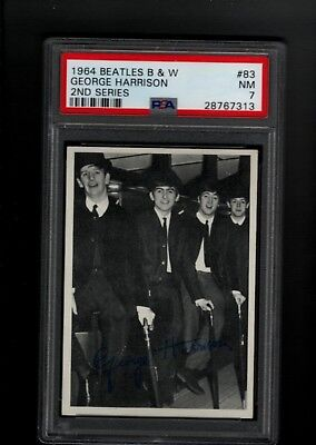 1964 BEATLES B&W  #83 PSA 7 NM  2ND Series GEORGE HARRISON