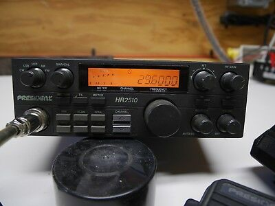president HR 2510radio transceiver in fair condition including......