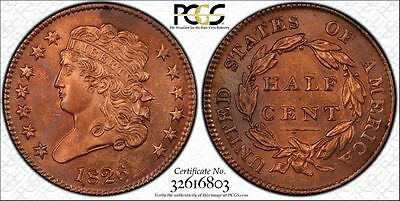 1826 1/2C Classic Head Half Cent PCGS UNCIRCULATED Genuine Questionable Color