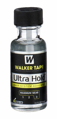 Walker Tape Ultra Hold 0.5fl Oz Brush on Hair Replacement System Wig Adhesive