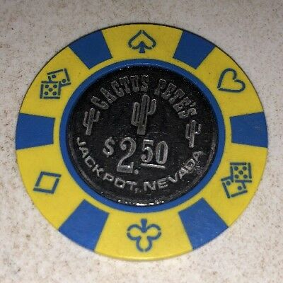 Cactus Pete's $2.50 Casino Chip Jackpot Nevada 2.99 Shipping