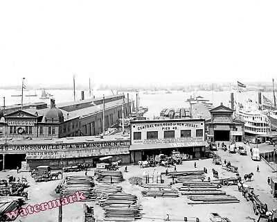Photograph of the New Jersey Vintage Pier # 46  White Star Lines 1905  8x10