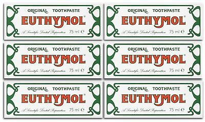 Euthymol 75ml Toothpaste - Multibuy Pack of 6