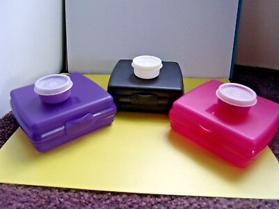 Tupperware Lot- 3 Hinged Sandwich Containers & 3 Smidgets Gadgets - Most are New