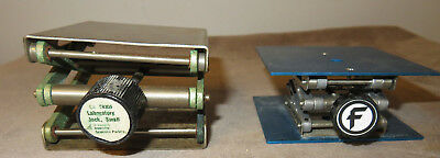 "Fisher Aluminum Lab Jack 3 x 3"" & American Scientific Lab Jack 3 x 3"""