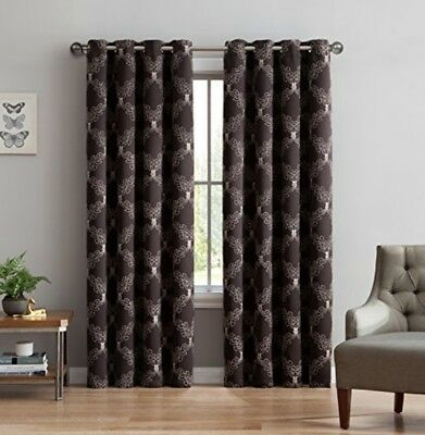 Blackout Window Curtain Panel Noise Reduction UV Ray 54wx96L Thermal Weaved NEW