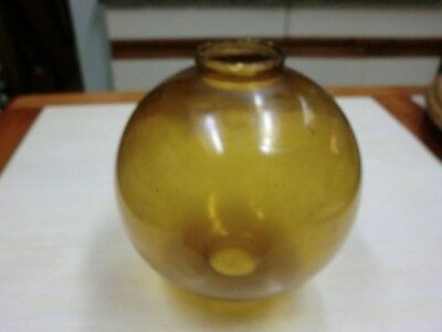 Antique/Vintage? Amber Lightning Rod Glass Ball