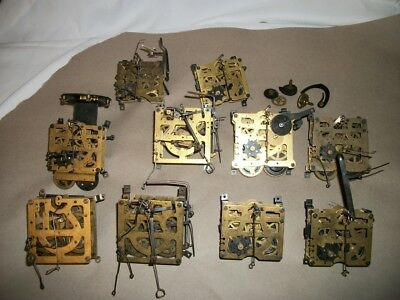 Cuckoo Clock Movement Lot Of 10 For Parts