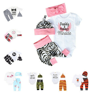 UK Infant Newborn Baby Boy Shirt & Pants Trousers & Hat Outfit Halloween Costume