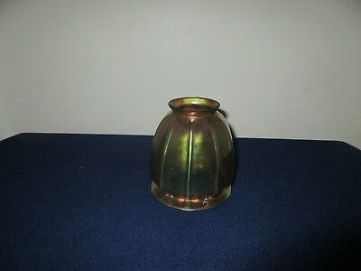 Antique Carder Era Steuben Art Glass Gold Aurene Iridescent Lamp Shade 4 3/8""