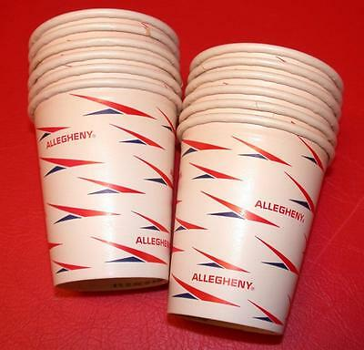 12 Vintage 1950s 1960's ALLEGHENY AIRLINES 6oz Hot Drinking DIXIE CUPS Old Stock