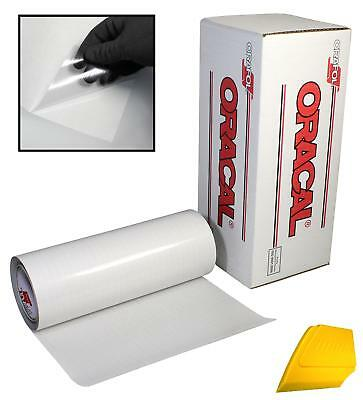 """ORACAL Clear Transfer Paper Tape 15ft Roll w/ Hard Yellow Detailer Squeegee (4"""""""
