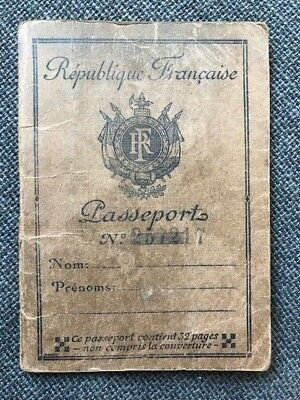 passport dated 1945 French Travel DOCUMENT