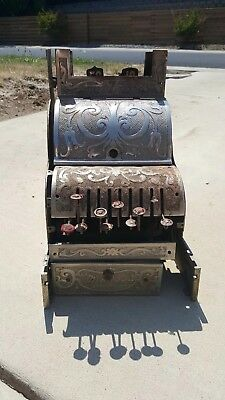 Antique Michigan No. 7 Small Candy Nickel Finish Cash Register, Parts