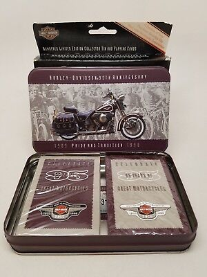 Harley Davidson 95th Anniversary Numbered Playing Card Decks Sealed