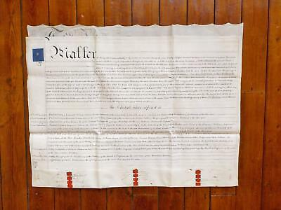 1839 York Market Place 3 page Vellum Deed Document Indenture signed by Knight