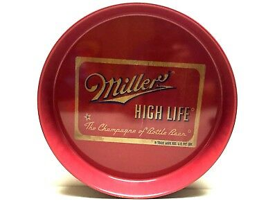 Vtg Tin Litho Advertising Tip Tray Miller High Life Beer Miller Brewing Co.
