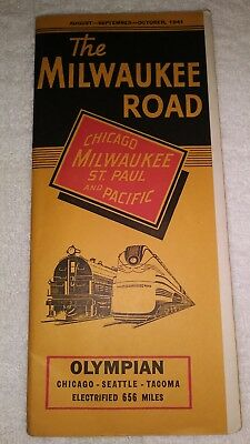 Chicago Milwaukee St.Paul and Pacific Timetable (1941)